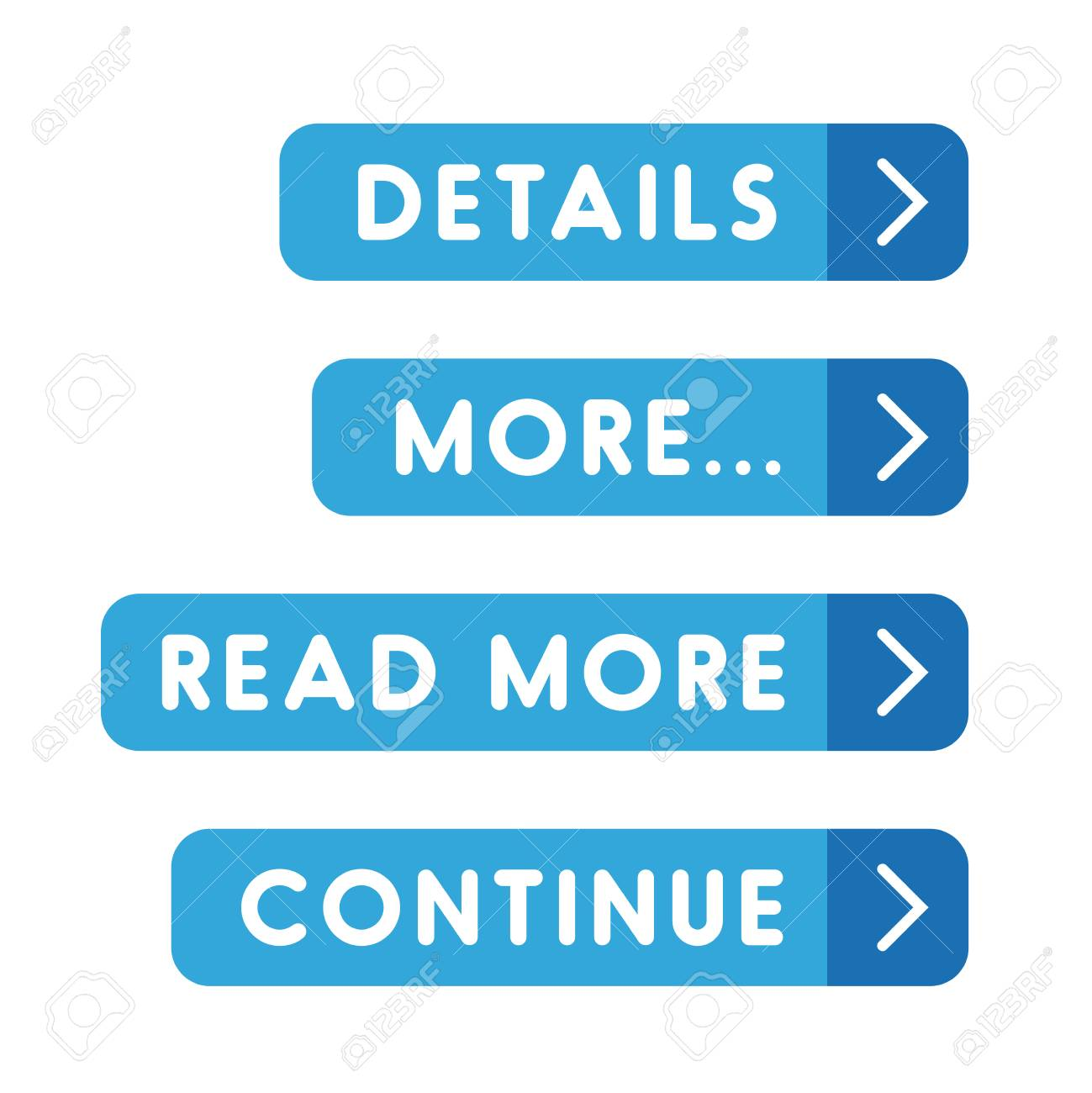 Call to action button set - Details, More, Read more, Continue - 58201146