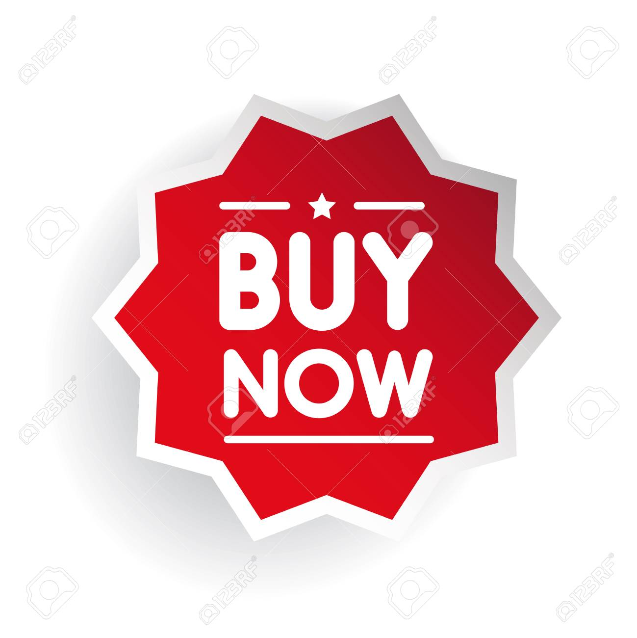 Buy Now Red Sticker Or Label Vector