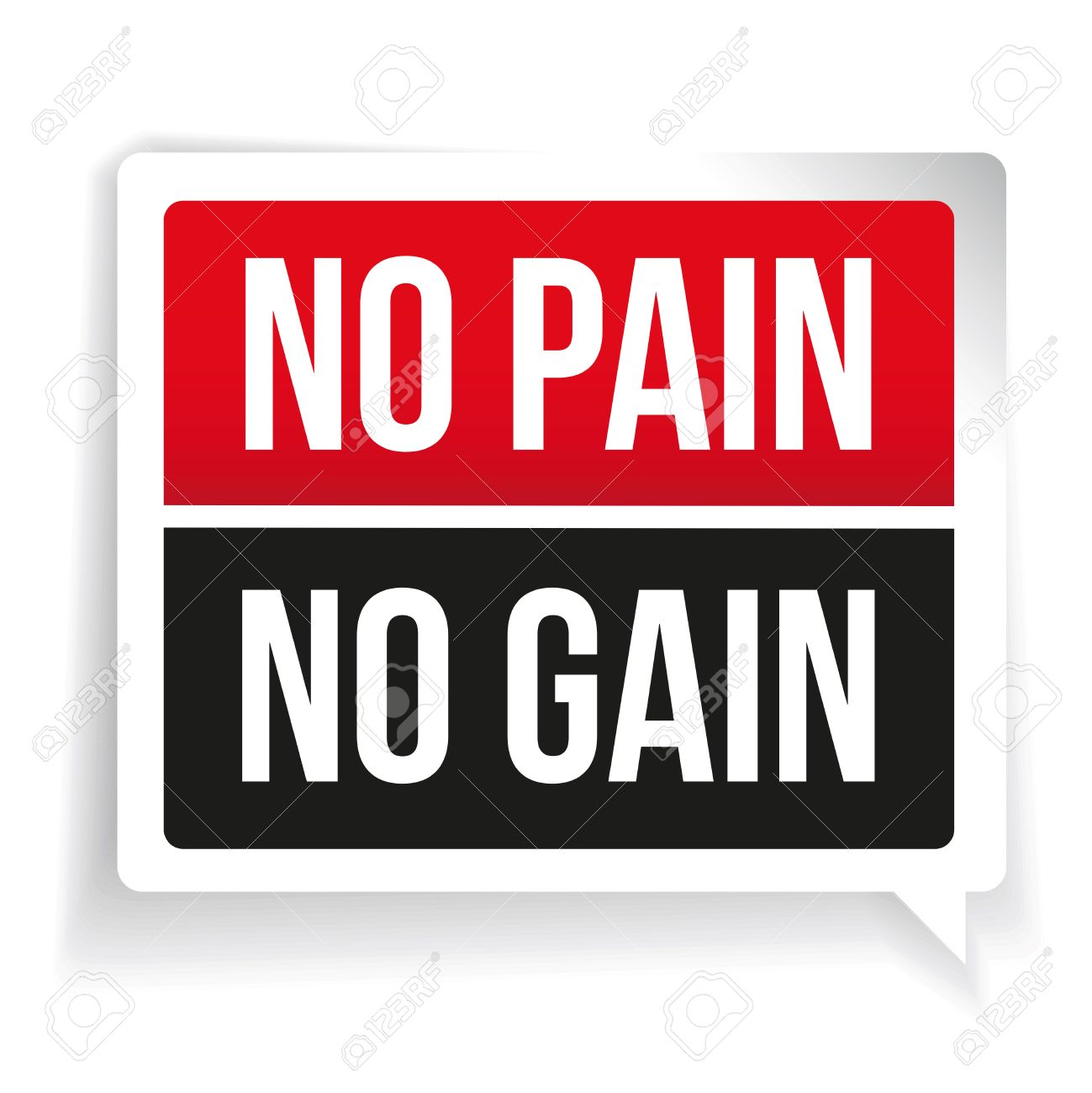 No Pain No Gain Workout And Fitness Motivation Quote Royalty Free