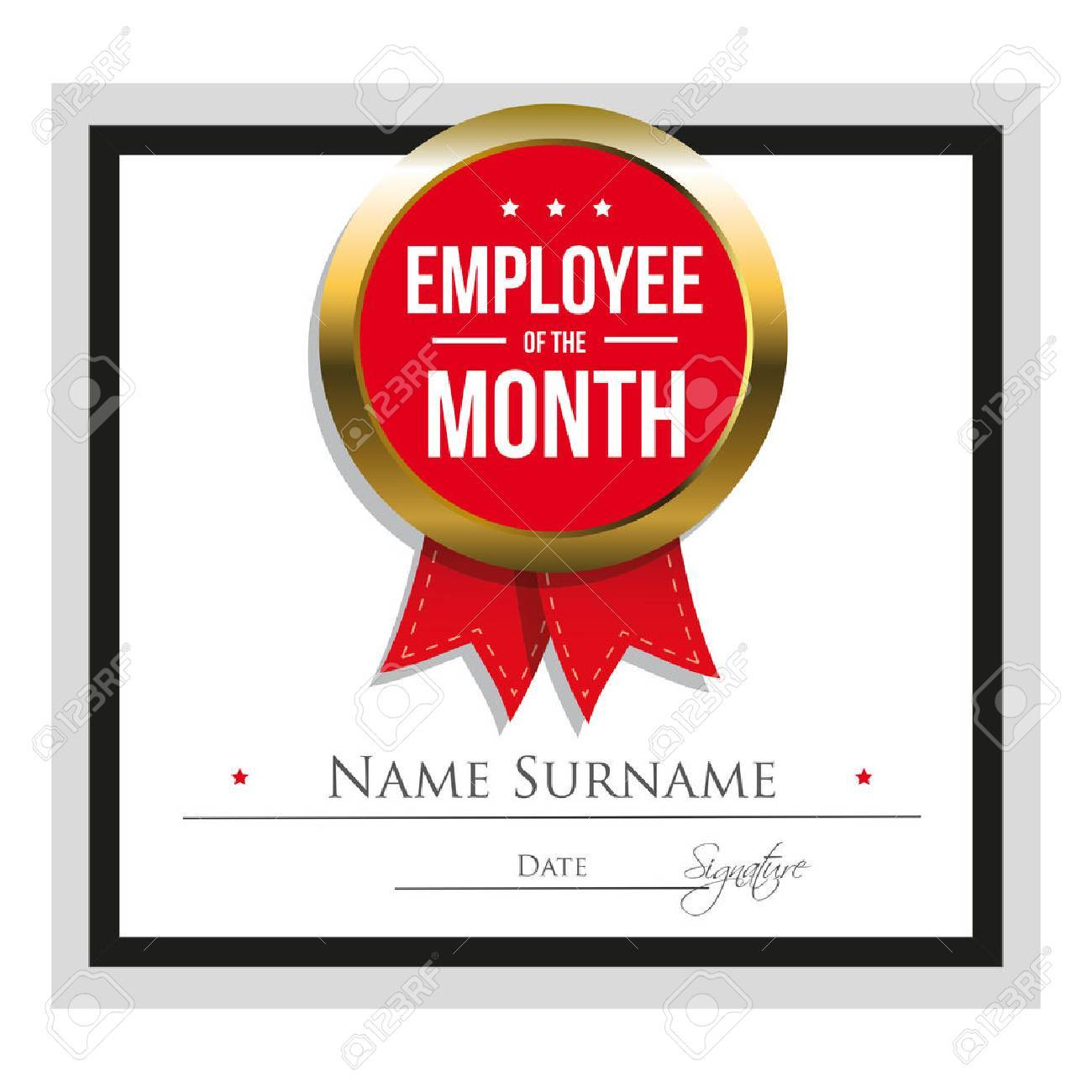 Employee Of The Month Certificate Template Royalty Free Cliparts ...