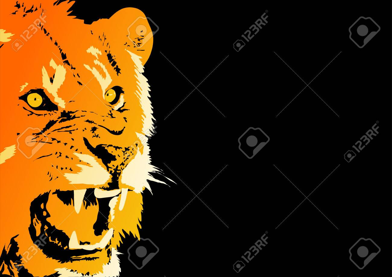 Abstract vector of an angry lion Stock Vector - 2061627
