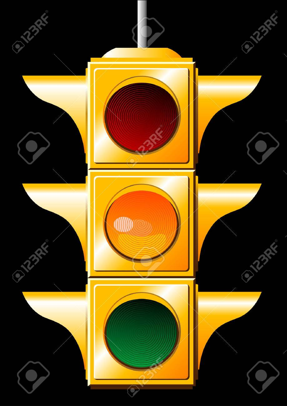 Vector of a yellow traffic light Stock Vector - 2068940