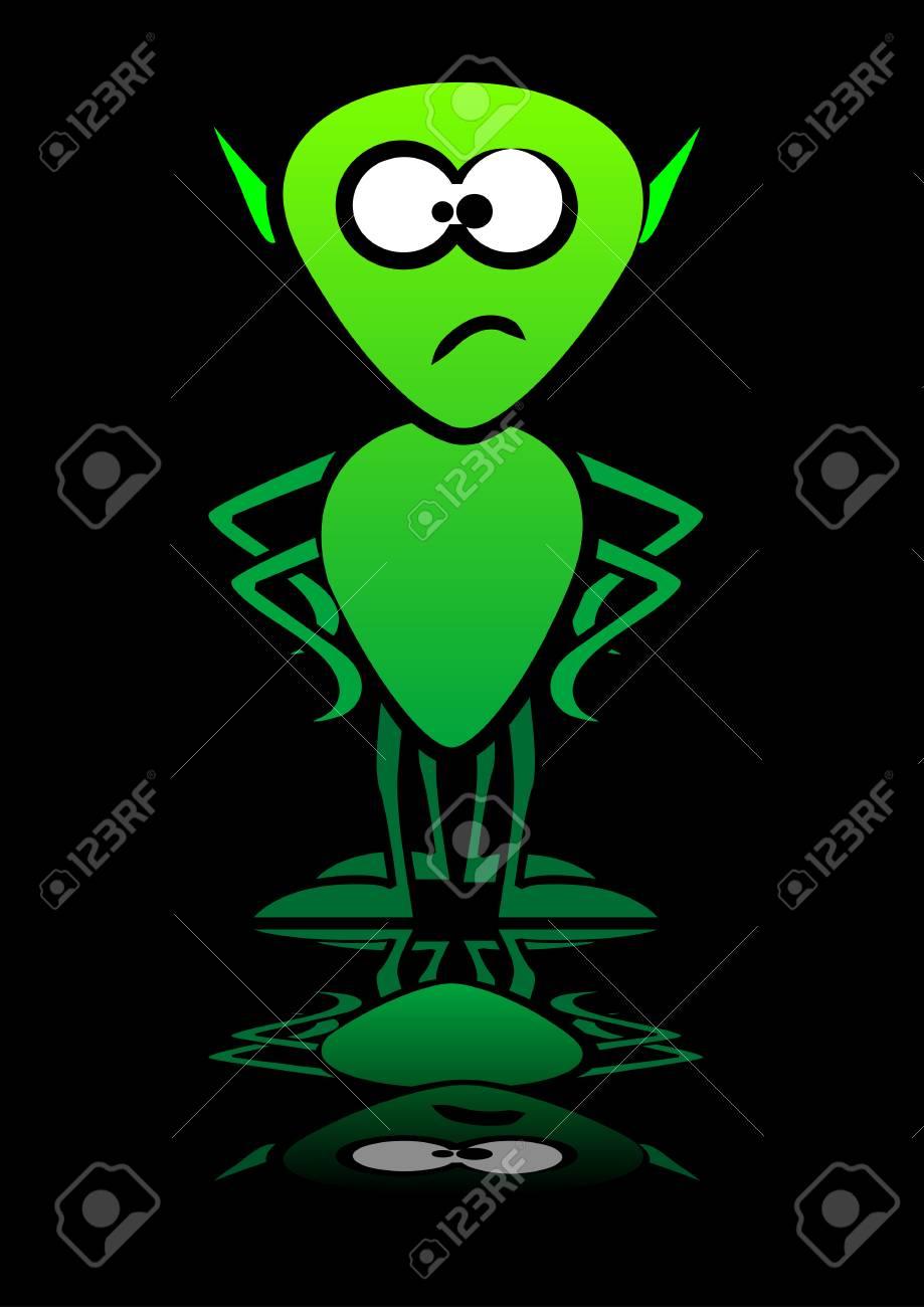 Abstract vector of an alien Stock Vector - 2167241