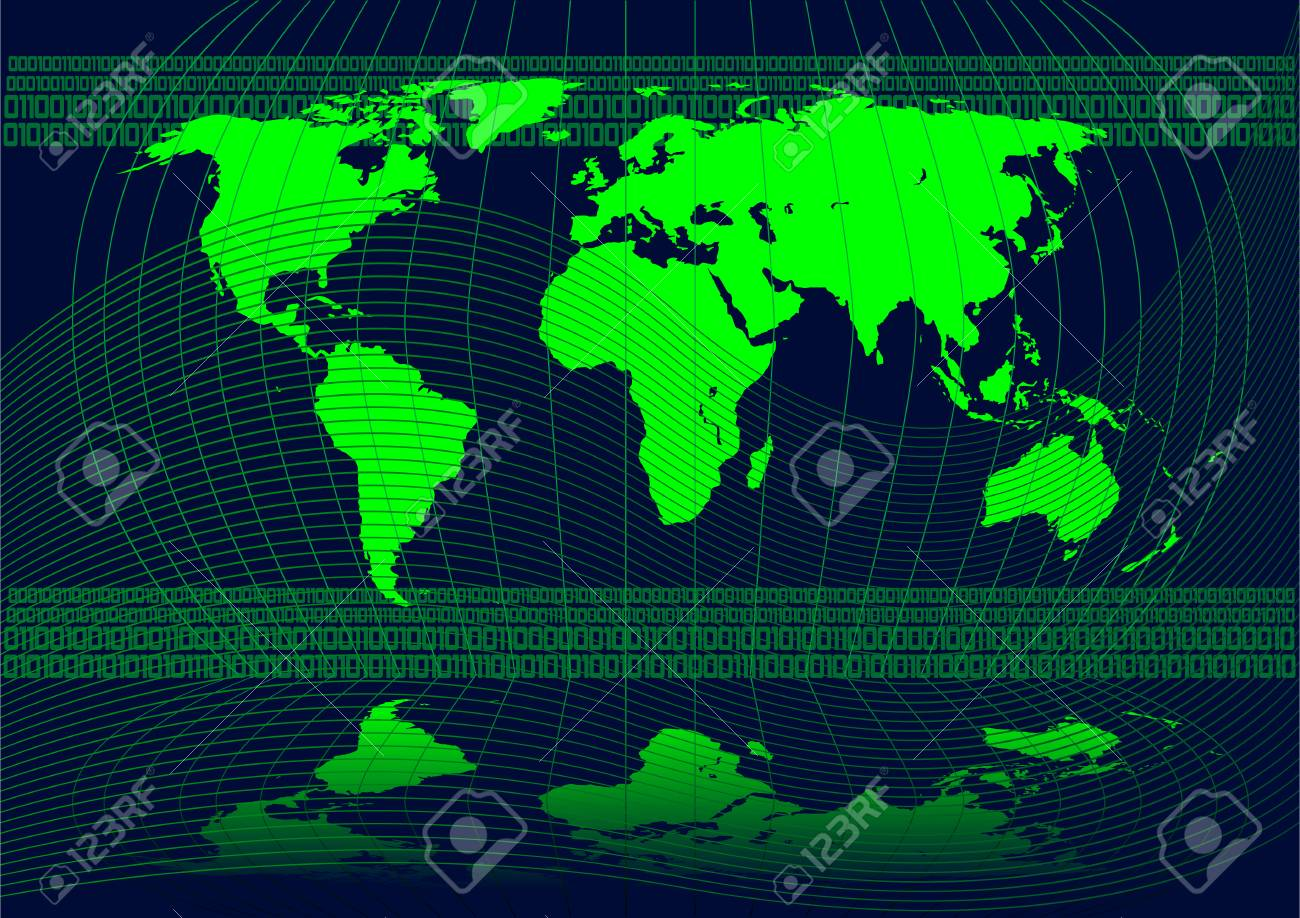 Abstract vector illustration of the world Stock Vector - 2464539