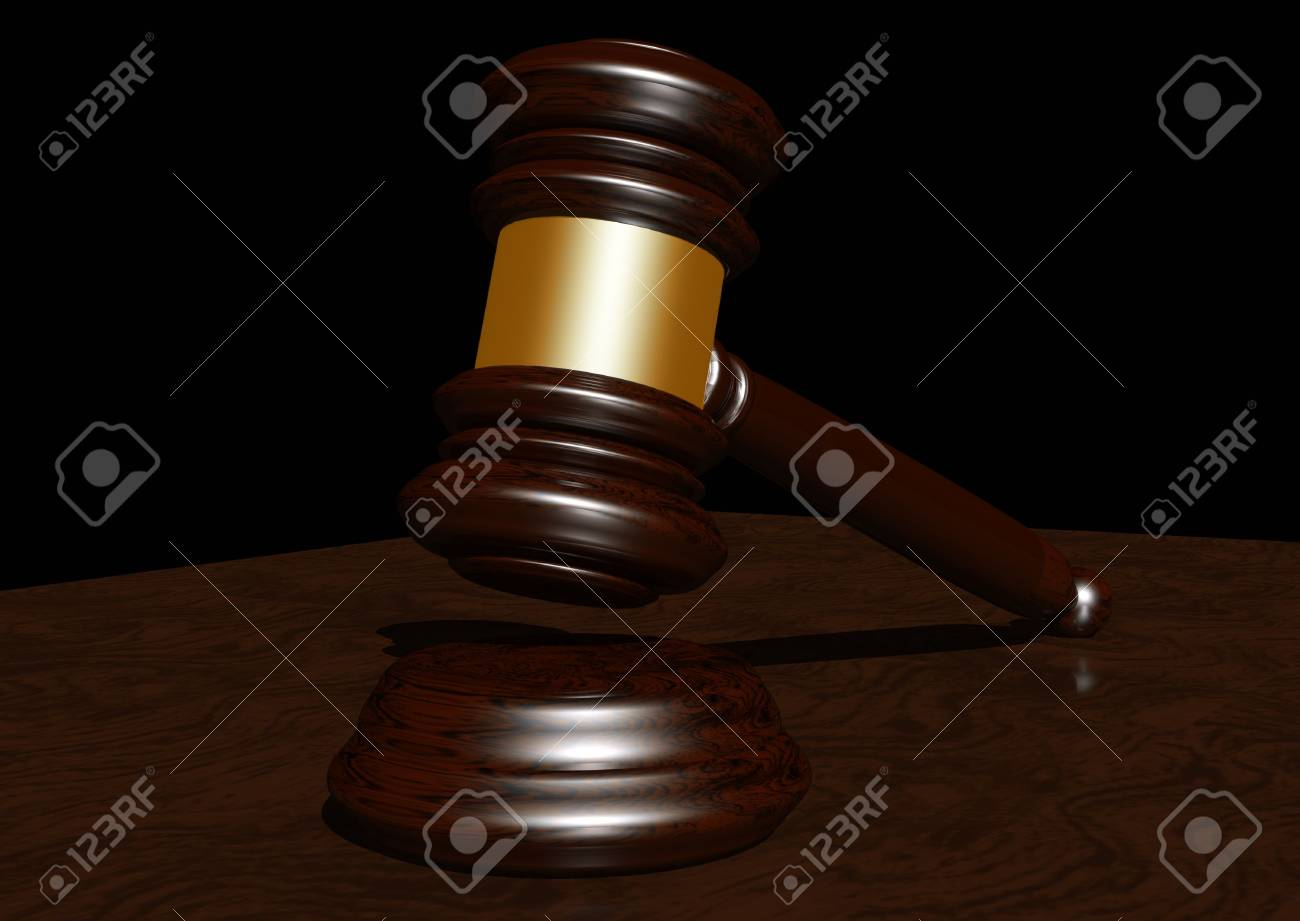 3d Rendering Of A Judges Gavel Stock Photo