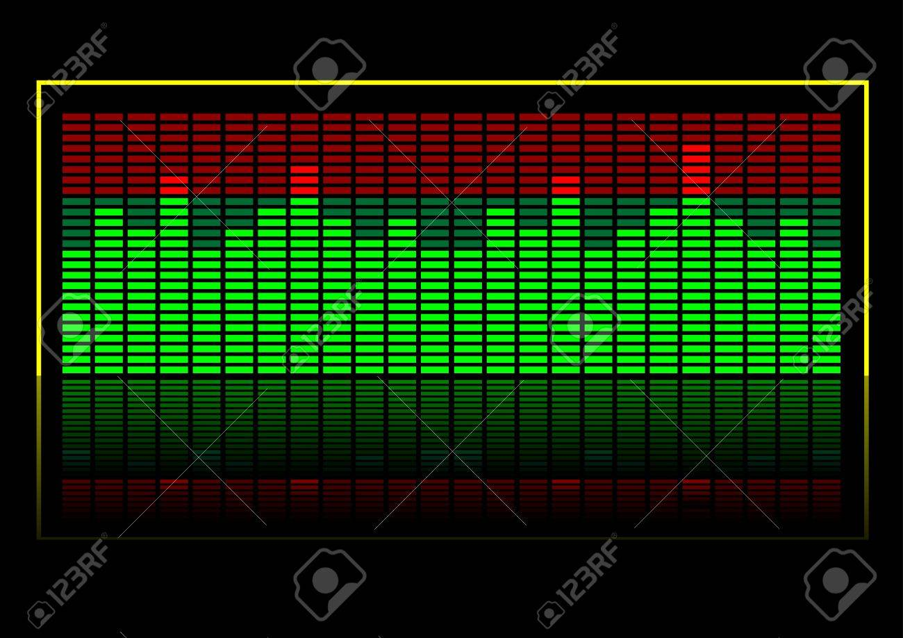 Abstract vector illustration of a graphic equalizer Stock Vector - 2673130