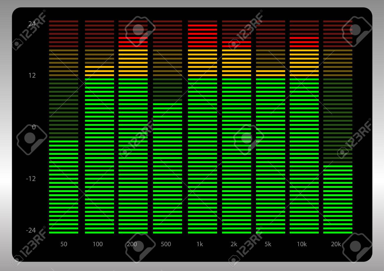 Abstract vector illustration of a graphic equalizer