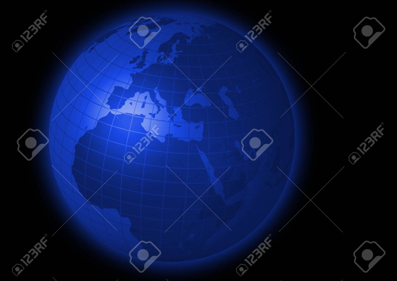3d rendering illustration of a globe focussed on europe Stock Photo - 2719155
