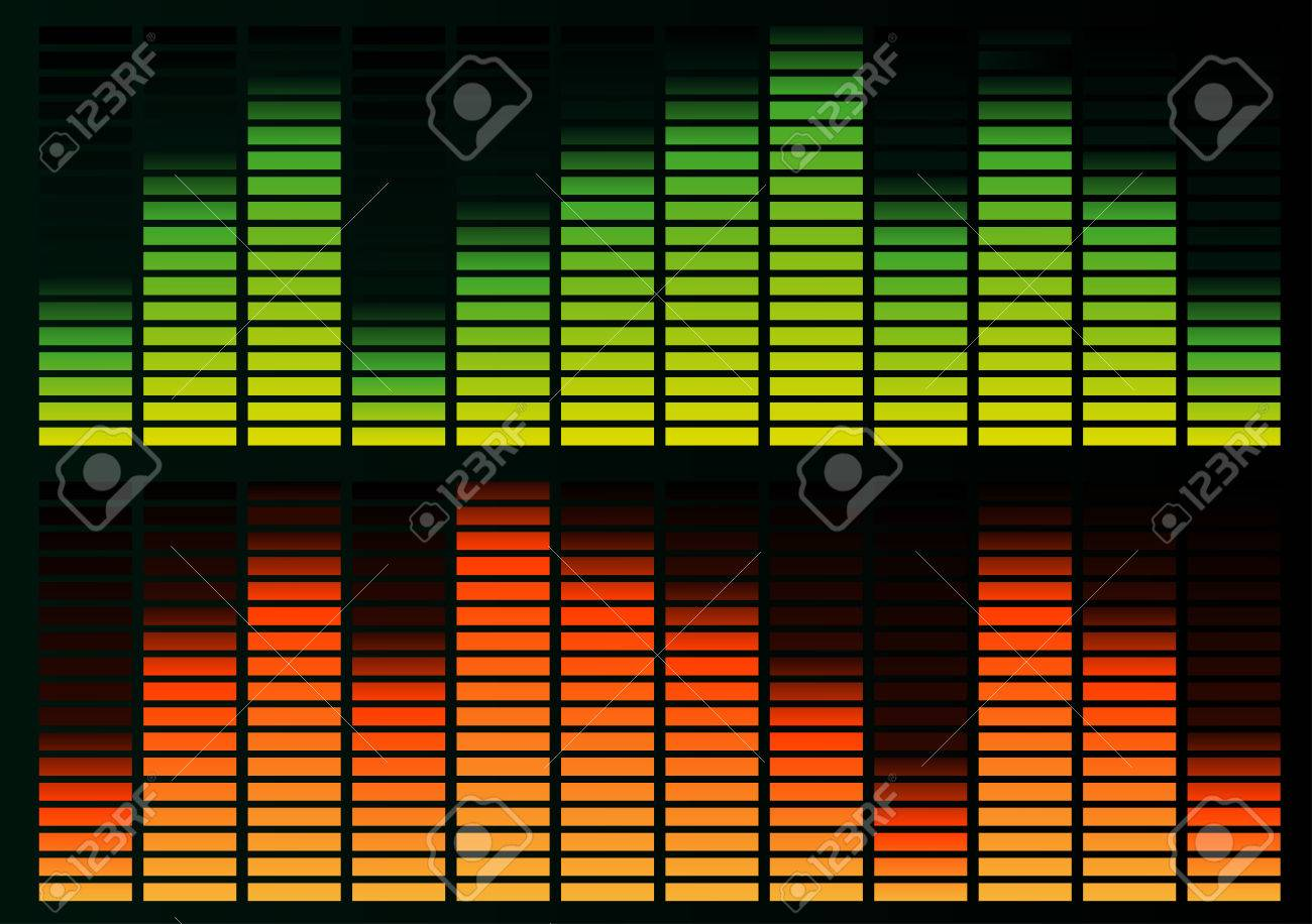 Abstract vector illustration of a graphic equalizer Stock Vector - 3054420