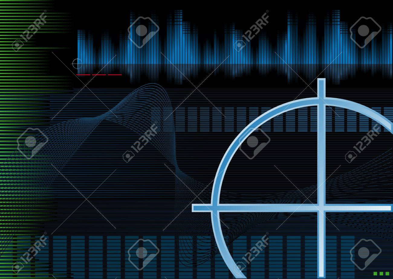 Abstract vector illustration of a high-tech background Stock Vector - 3084865