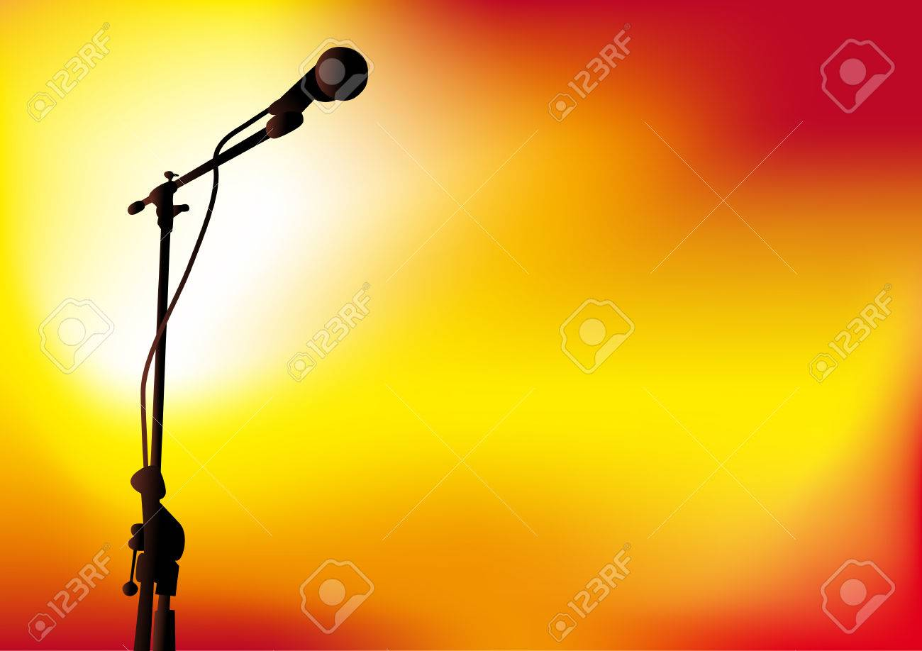 Abstract vector illustration of a microphone with spotlights Stock Vector - 3183344