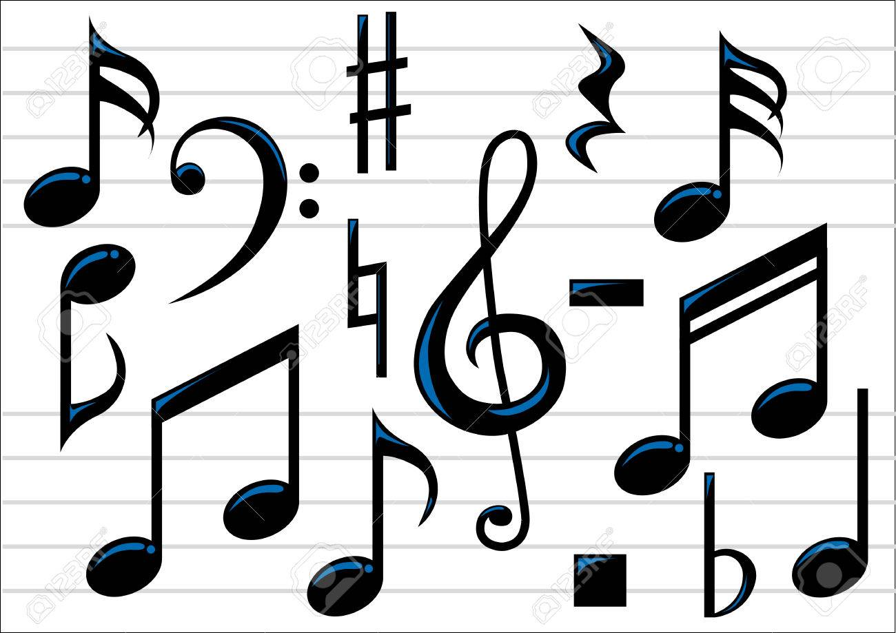 abstract vector illustration of music notes royalty free cliparts