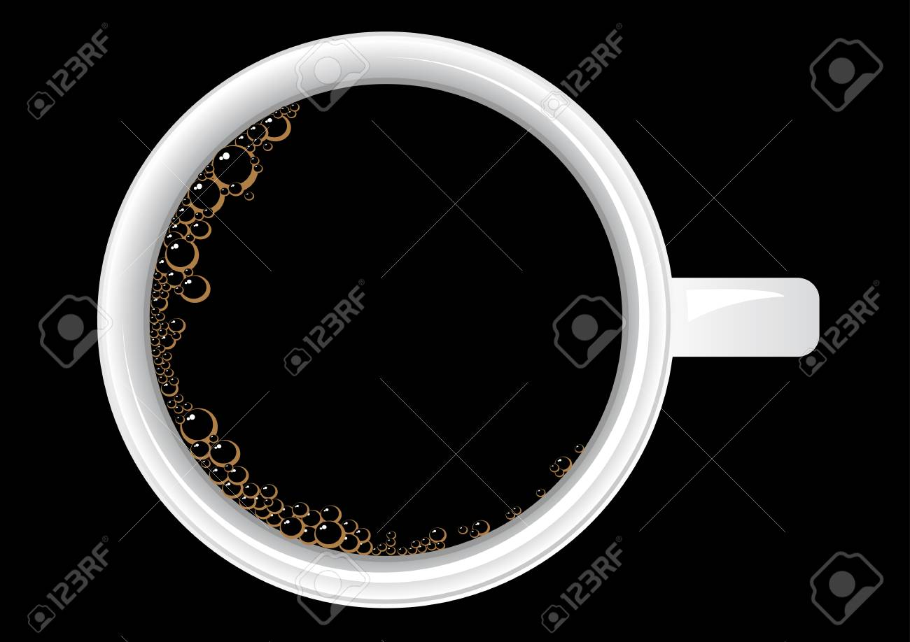 Vector illustration of a cup of coffee from the top Stock Vector - 3564073