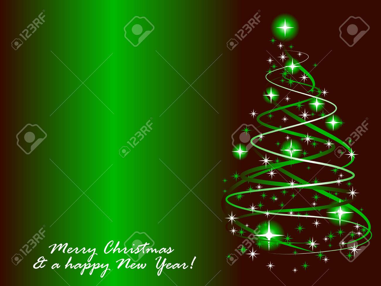 Abstract vector illustration of a christmas tree with twinkles Stock Vector - 5612259