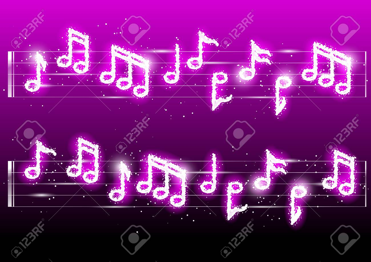 Vector illustration of fireworks musicnotes Stock Vector - 16005960