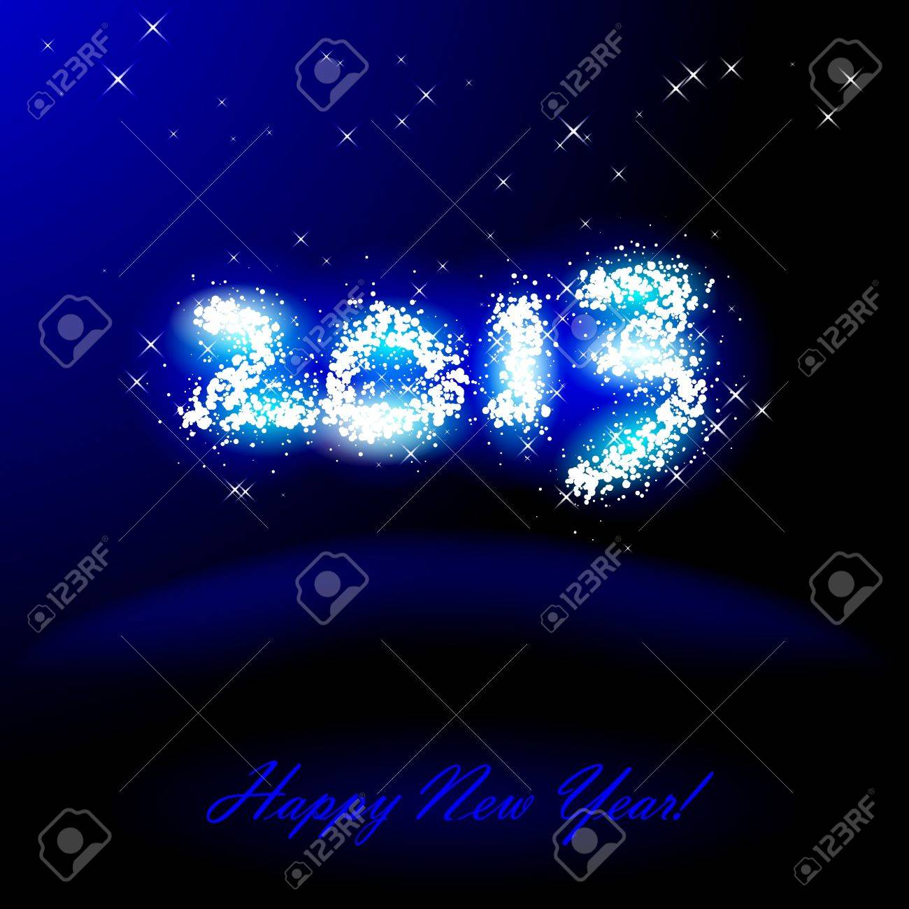 Vector illustration of 2013 in sparkles over blue Stock Vector - 16125205