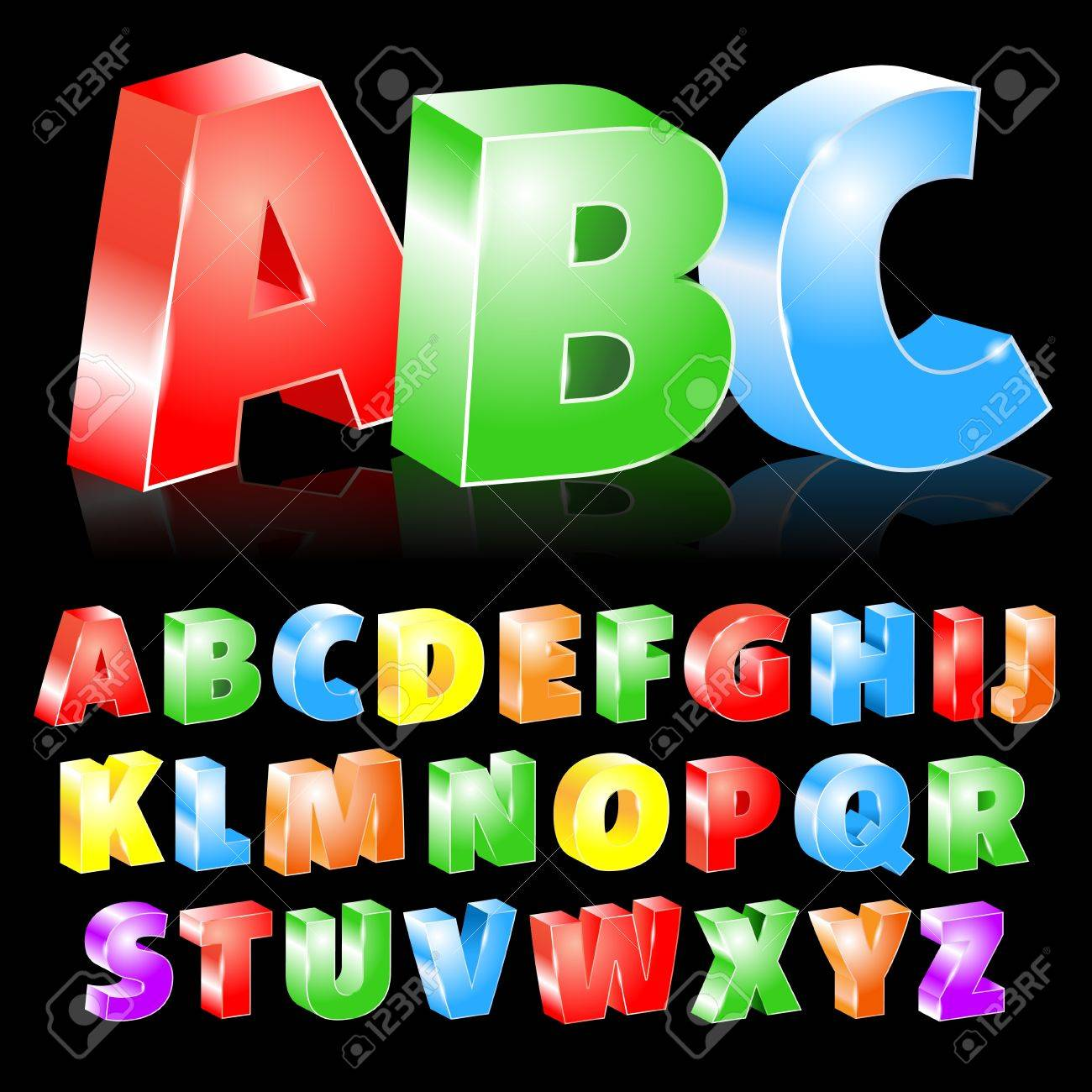 illustration of colorful boxed letters Stock Vector - 16235572
