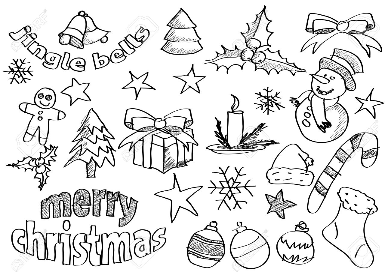 Abstract sketched christmas icons and symbols royalty free abstract sketched christmas icons and symbols stock vector 16235590 biocorpaavc