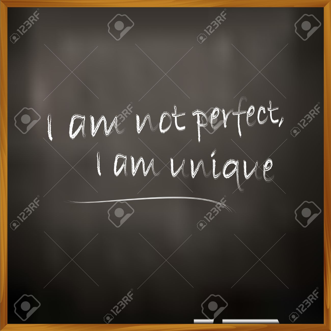 Illustration Of A Quote I Am Not Perfect I Am Unique Royalty Free