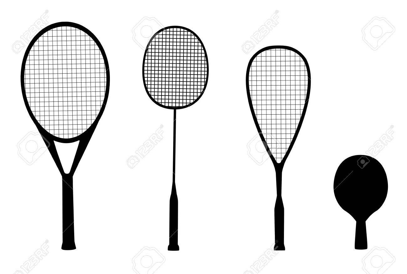 0dec6074f516f Foto de archivo - Siluetas de deportes de raqueta - raquetas para tenis
