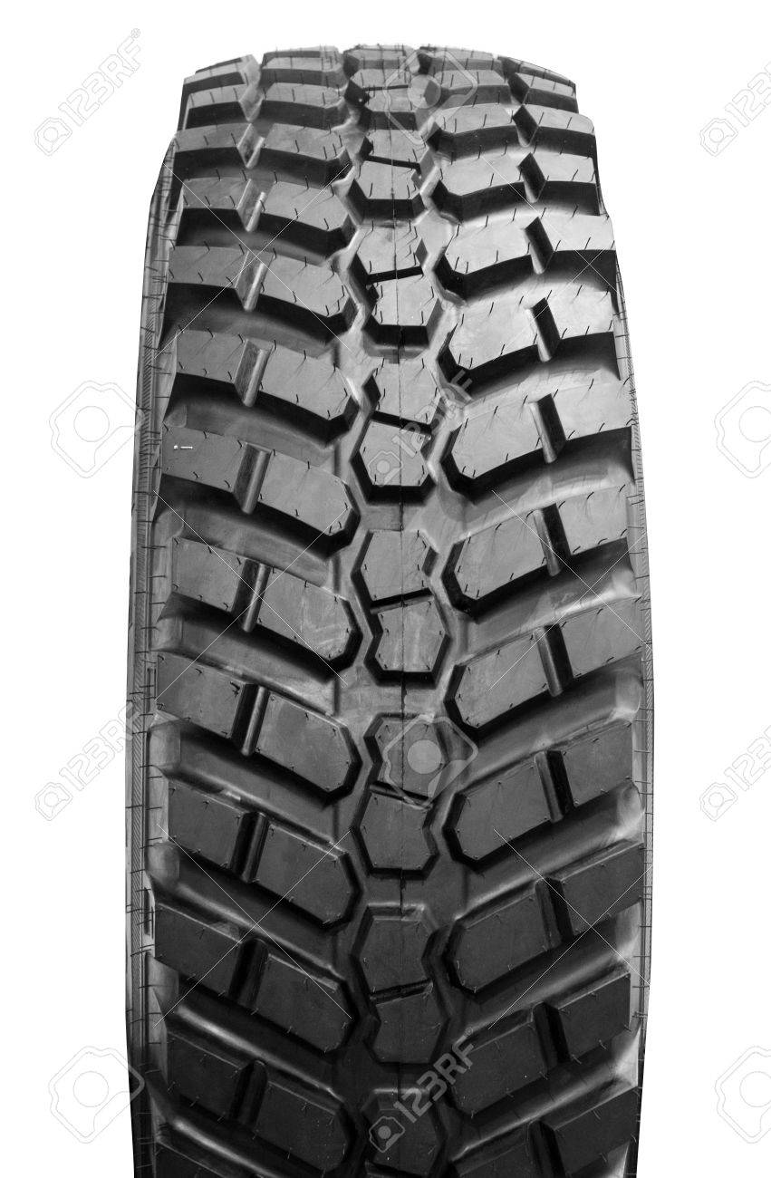 big tractor tire isolated Stock Photo - 13766001
