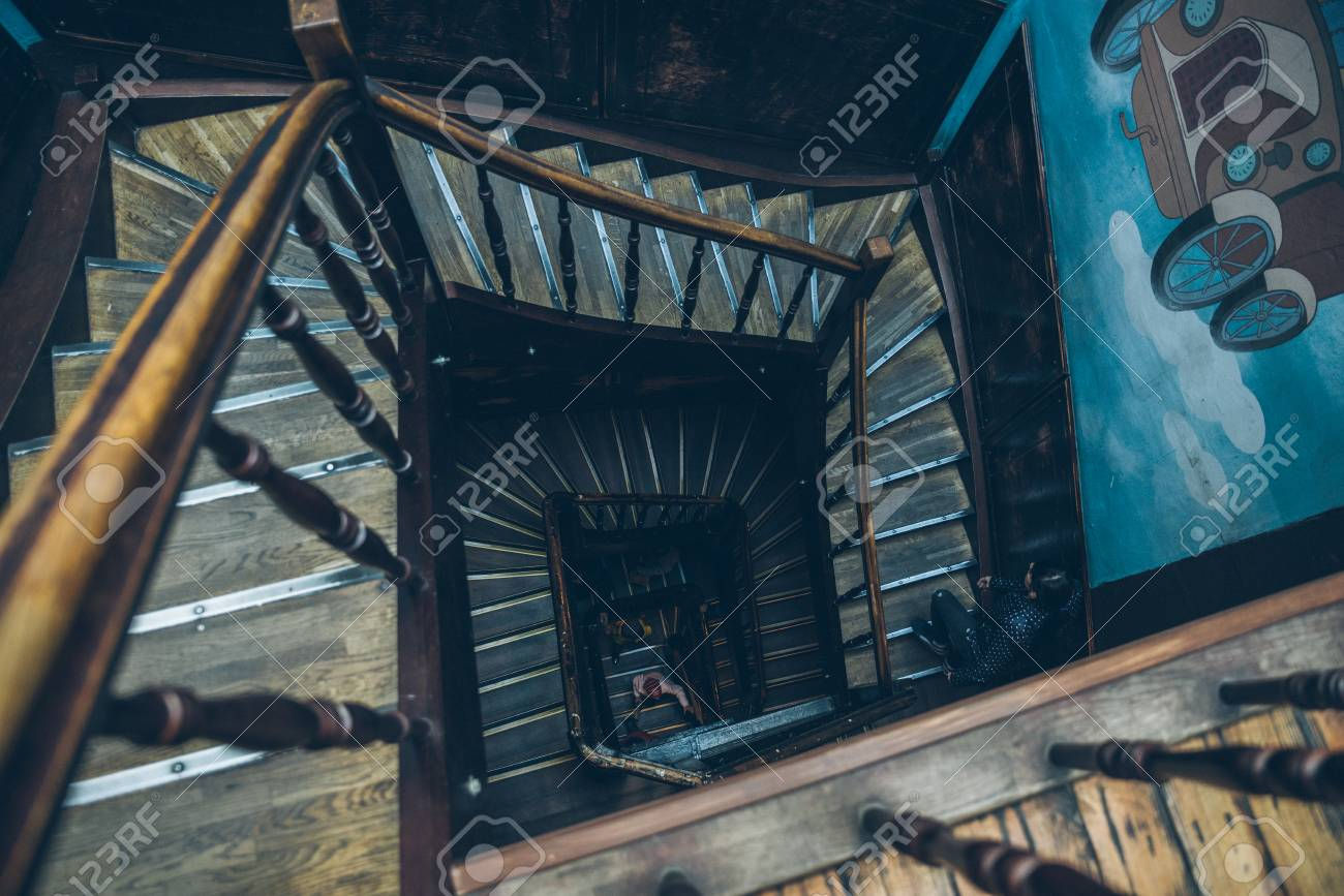 Attrayant Stock Photo   Vintage Spiral Staircase
