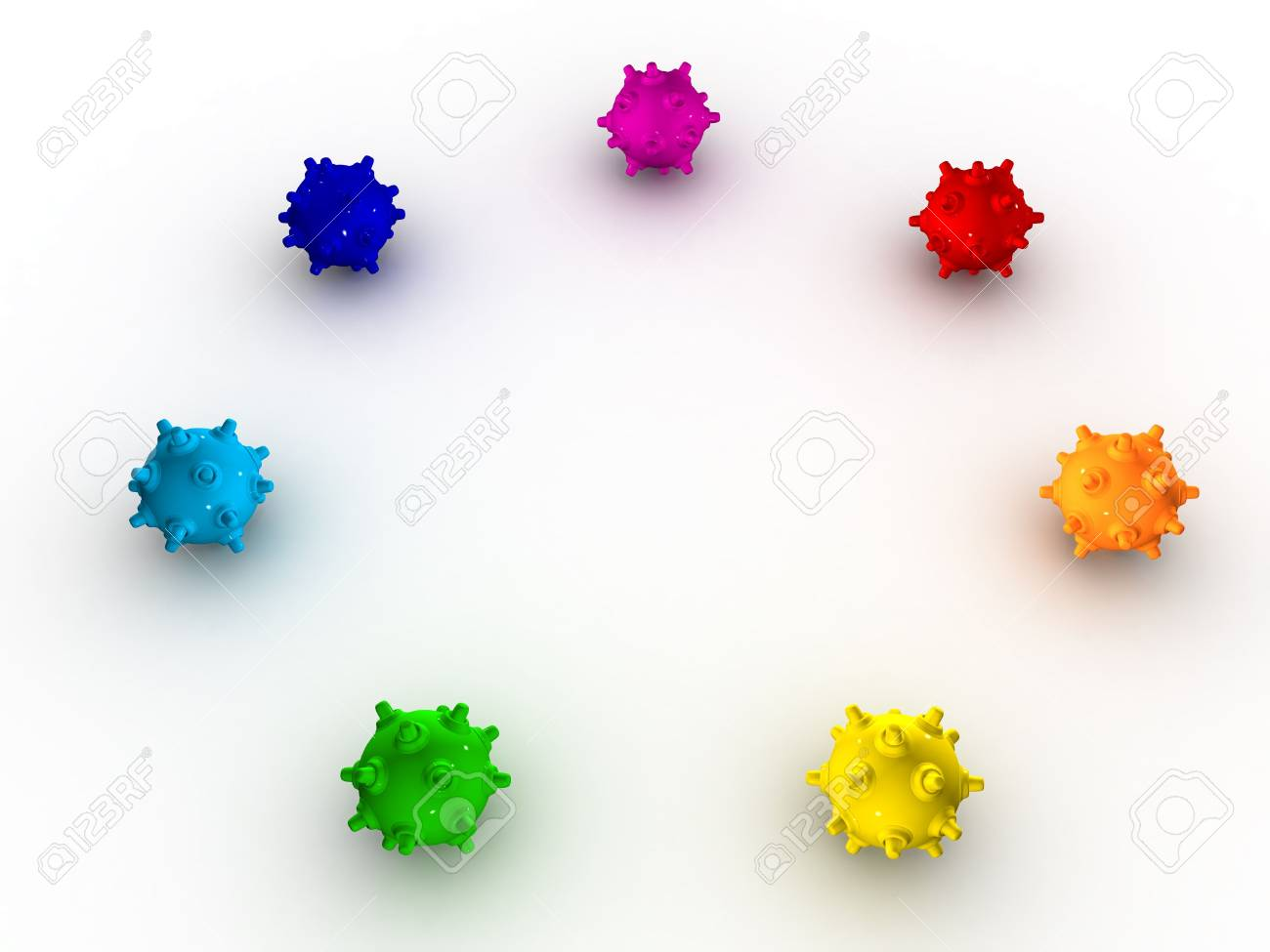 Colored shiny bombs on a white background Stock Photo - 4683907