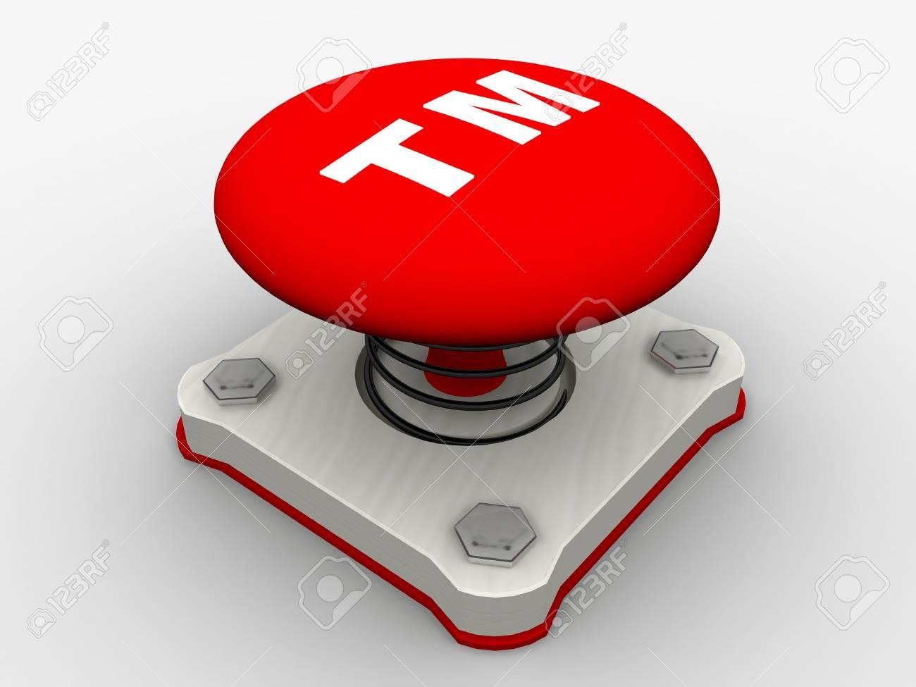 Red start button on a metal platform Stock Photo - 5037386