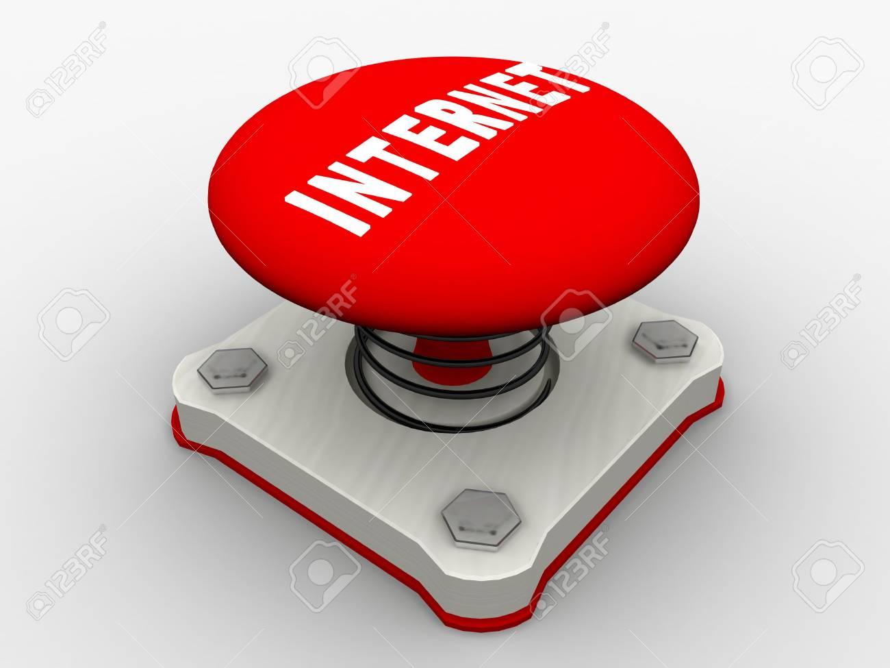 Red start button on a metal platform Stock Photo - 5037351