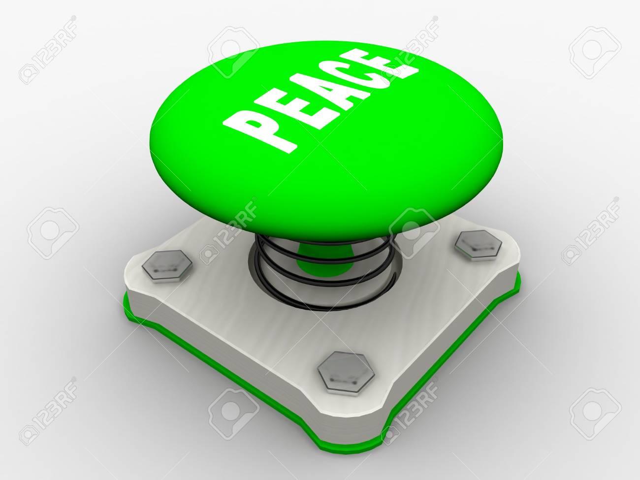 Green start button on a metal platform Stock Photo - 5338621