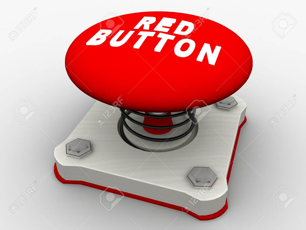 Green start button on a metal platform Stock Photo - 5338609