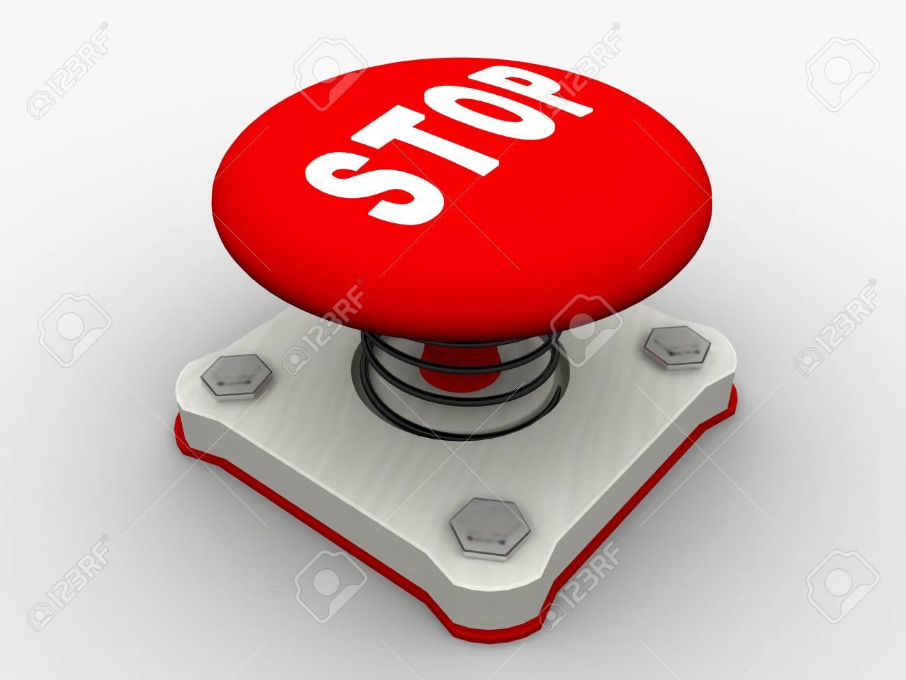 Red start button on a metal platform Stock Photo - 5424060