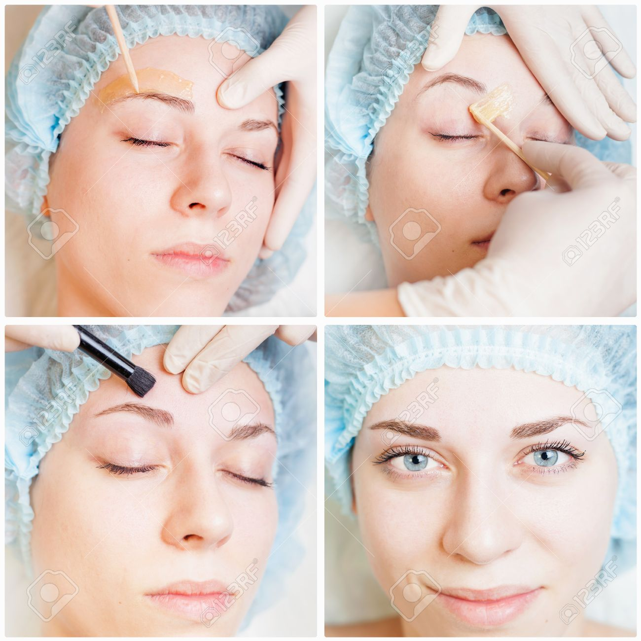 Collage of several photos for beauty and medical treatment - 43990265