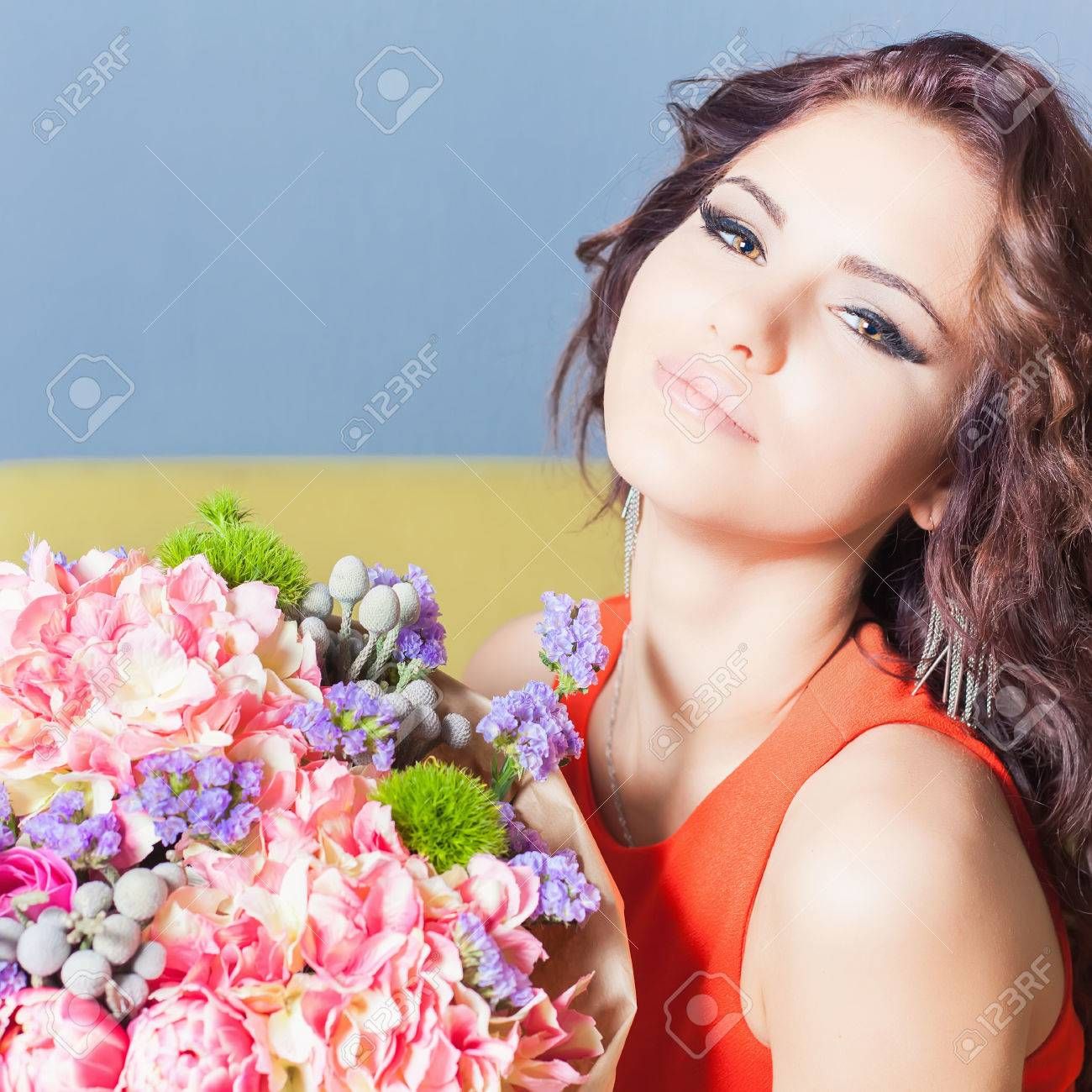 Woman Day Beautiful Women Stock