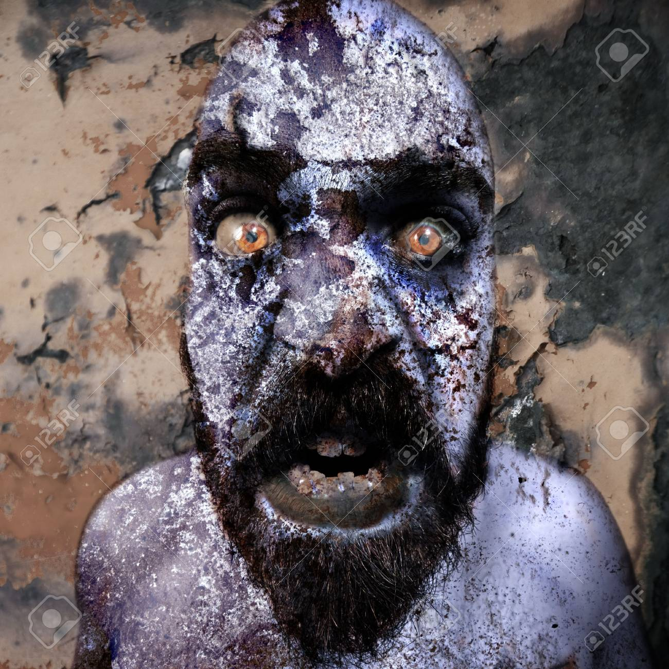 man with monstrous monstrous graphics processing expressions Stock Photo - 8086707