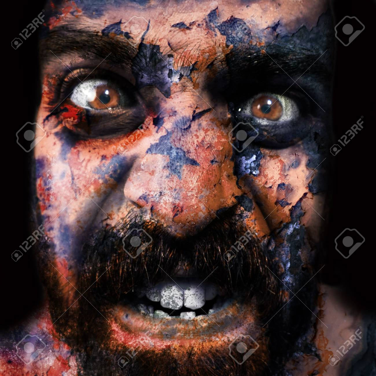 man with monstrous monstrous graphics processing expressions Stock Photo - 8086695