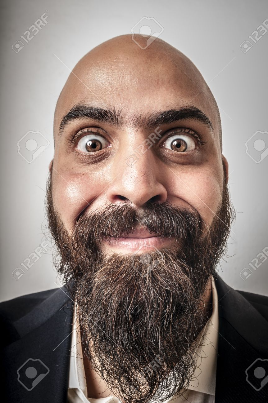 Cool Elegant Bearded Man With Jacket And Funny Expressions On White Short Hairstyles Gunalazisus