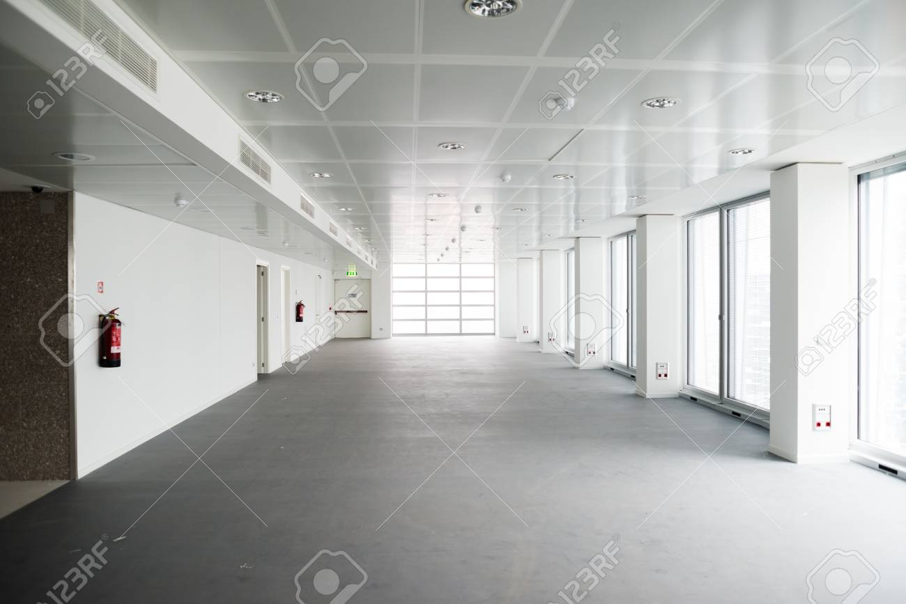 MILAN, ITALY - SEPTEMBER 27: Garibaldi Towers interior on September 8, 2013. Garibaldi Towers are two important modern skyscrapers, 100 meter high, energy self-sufficient thanks to solar panels and insulating materials Stock Photo - 22460660