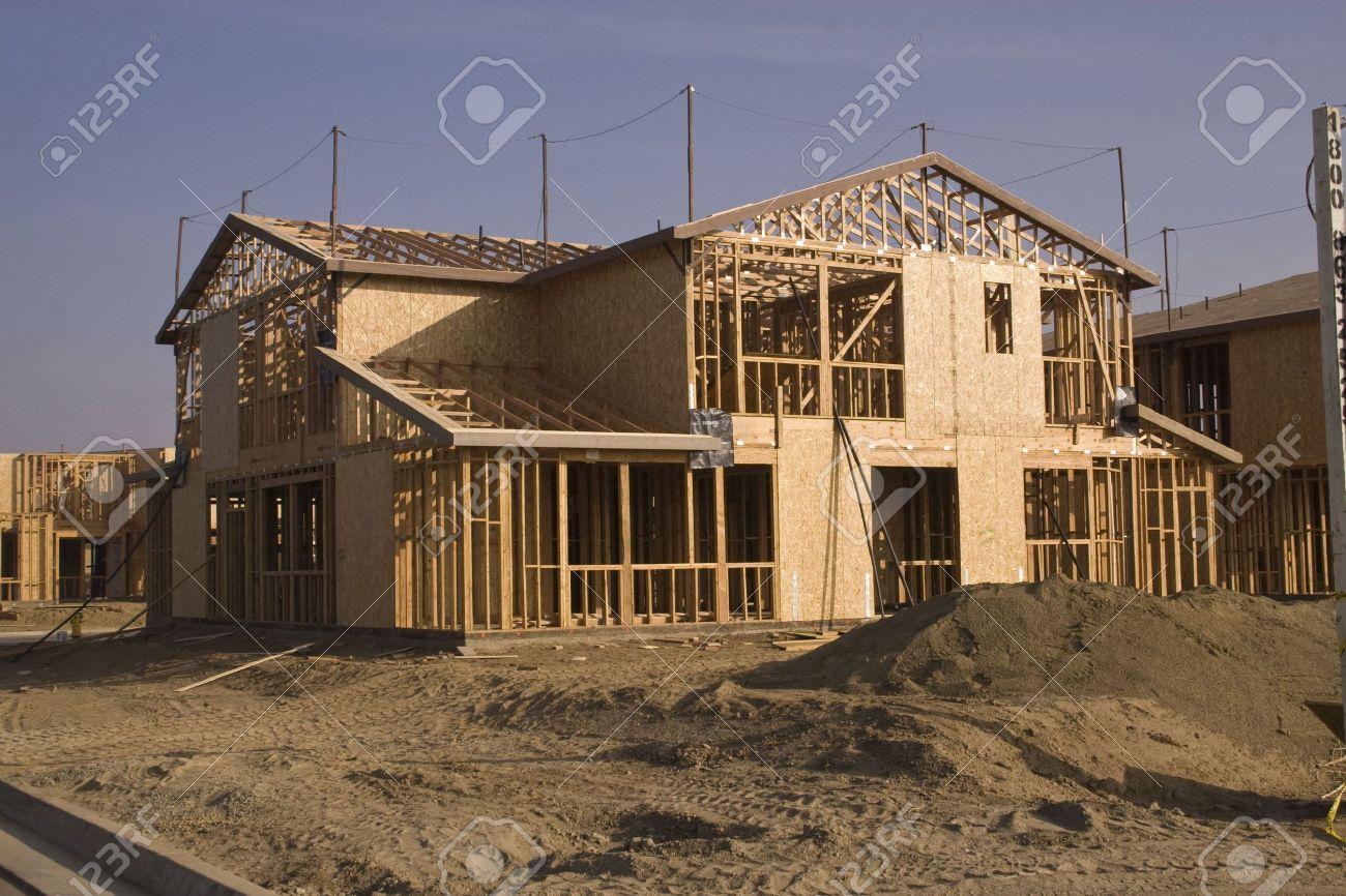 Een Nieuw Huis : Een nieuw huis in aanbouw in zuid californië royalty vrije foto