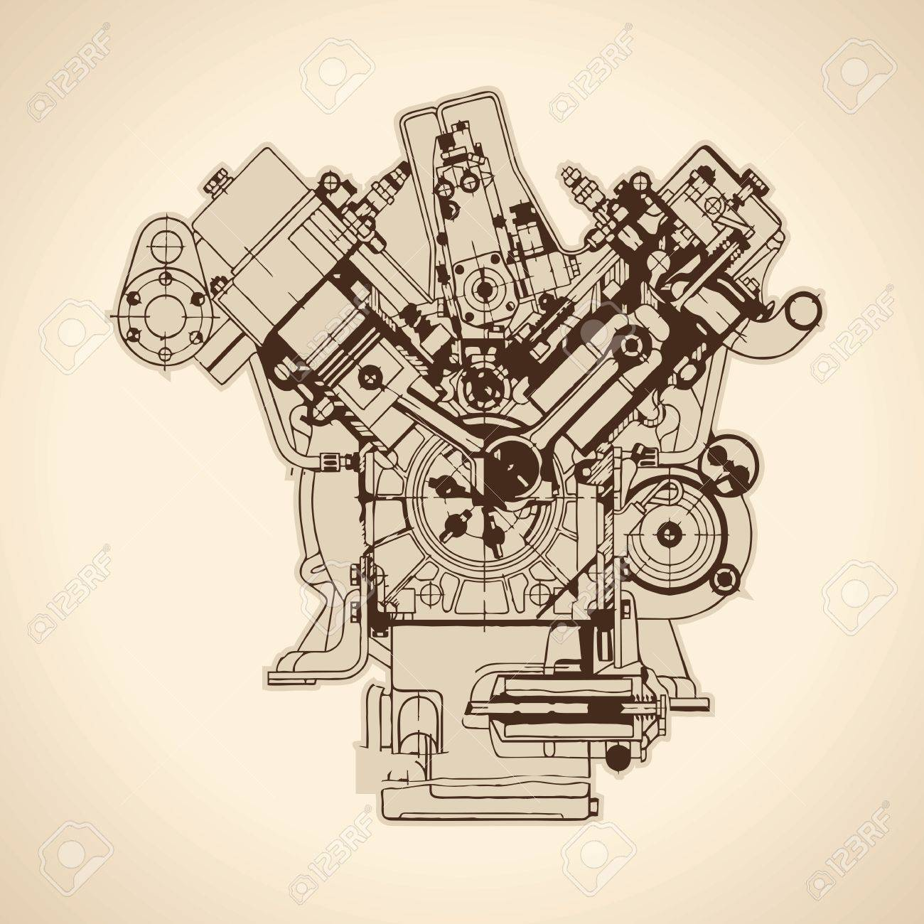 on old gas engine diagram
