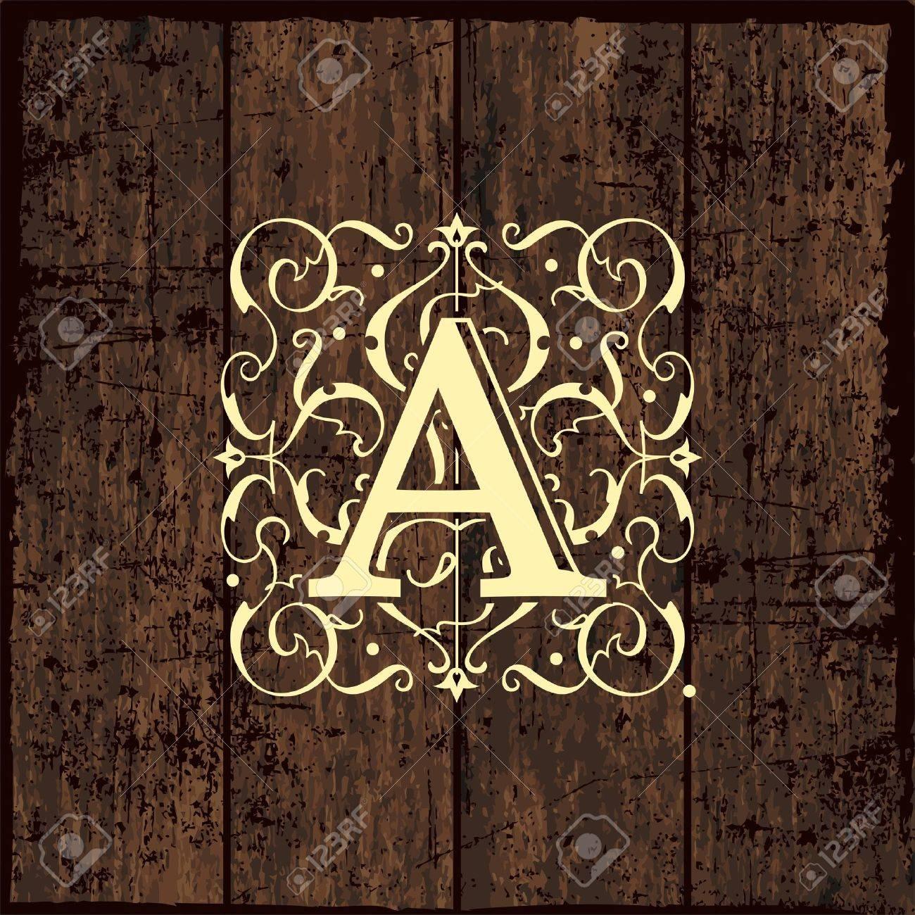 Luxury Monogram Emblem Template. Elegant Frame Ornament Line ...