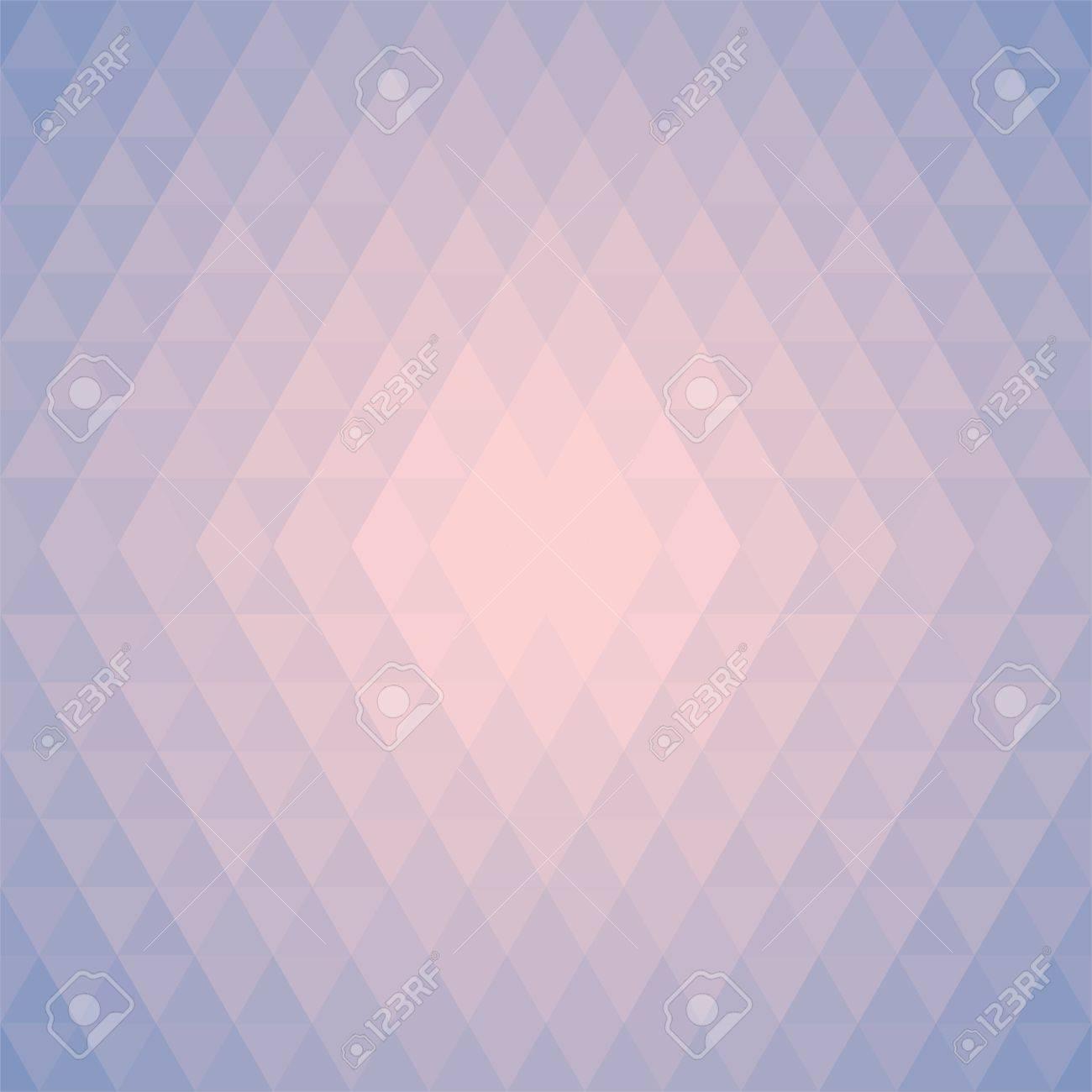 Stylish Pattern, Background Made Of Triangles In Trendy Colors Pink, Sky  Blue, Rose