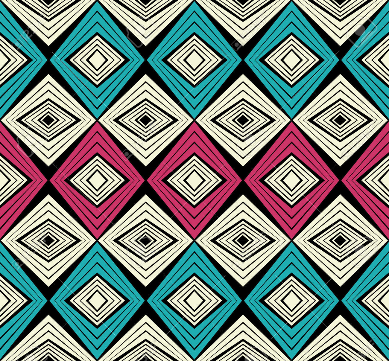 African fashion seamless pattern ornament in vibrant colours, picture art and abstract background for Fabric Print, Scarf, Shawl, Carpet, Kerchief, Handkerchief, vector. - 168404719