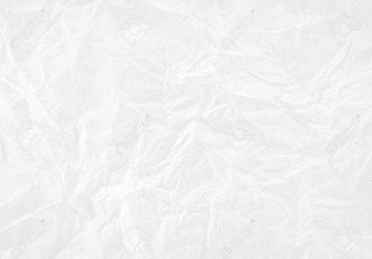 White crumpled paper texture background. - 140321739
