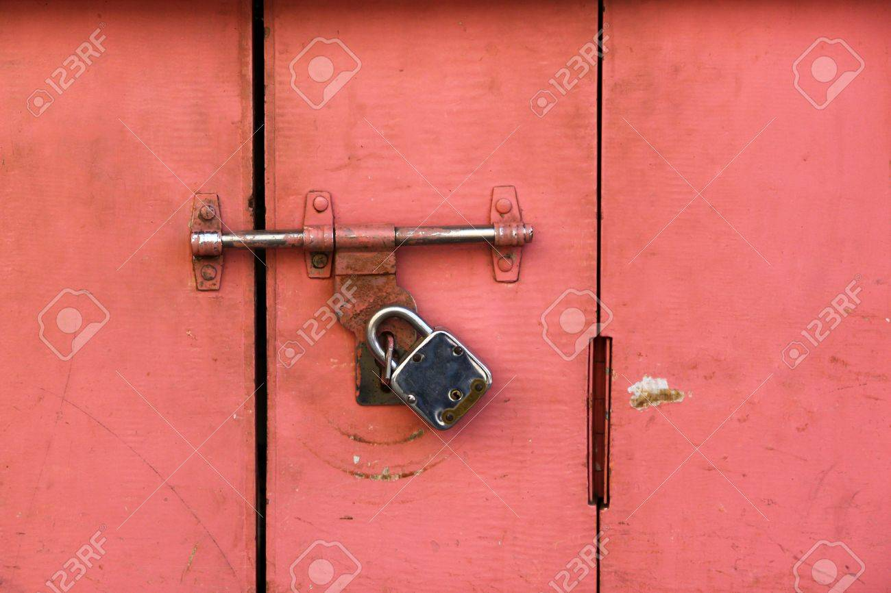 Colorful Ancient Door Locked By A Very Old Style Door Lock Stock Photo Picture And Royalty Free Image Image 18223350