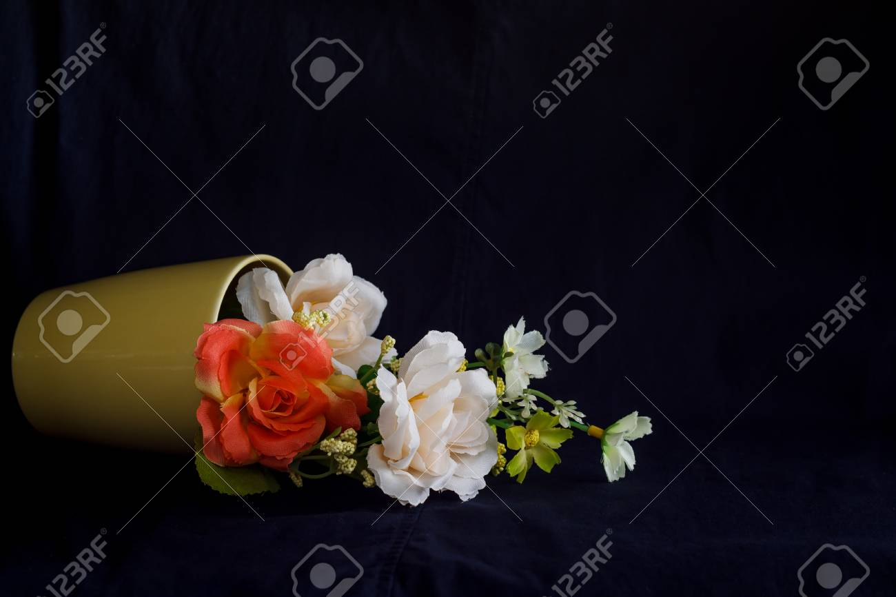 Flower In A Yellow Vase Cozy Home Rustic Decor Cottage Living