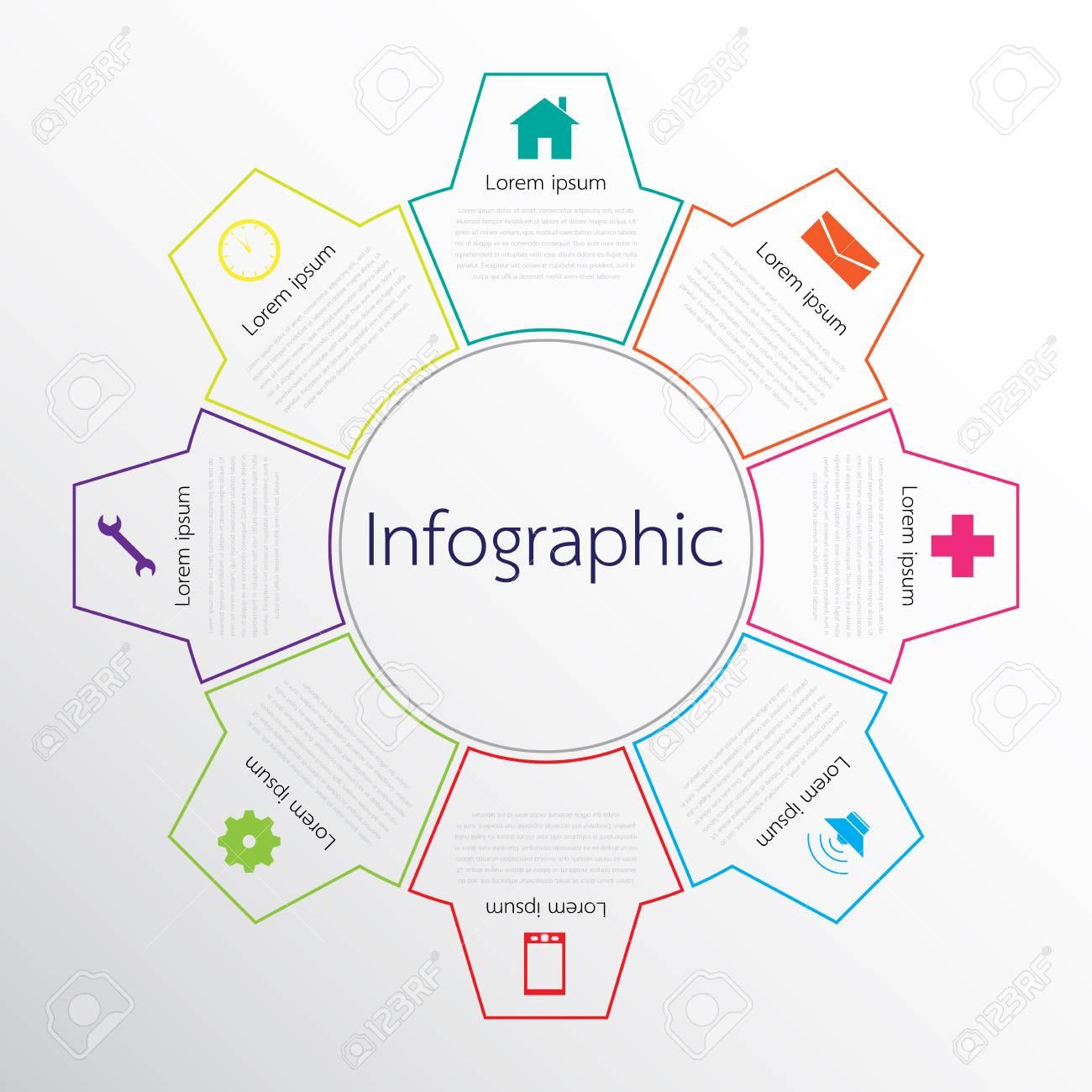 Ein Vektor Infografik Vorlagen Für Detaillierte Berichte Verwendet ...