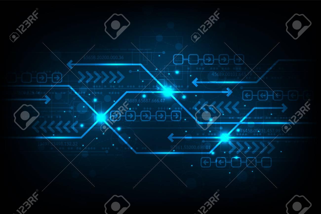 The exchange of information in digital. - 104272502