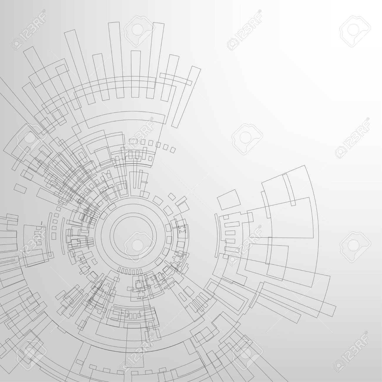 Vector background in the concept of technology. - 104272509