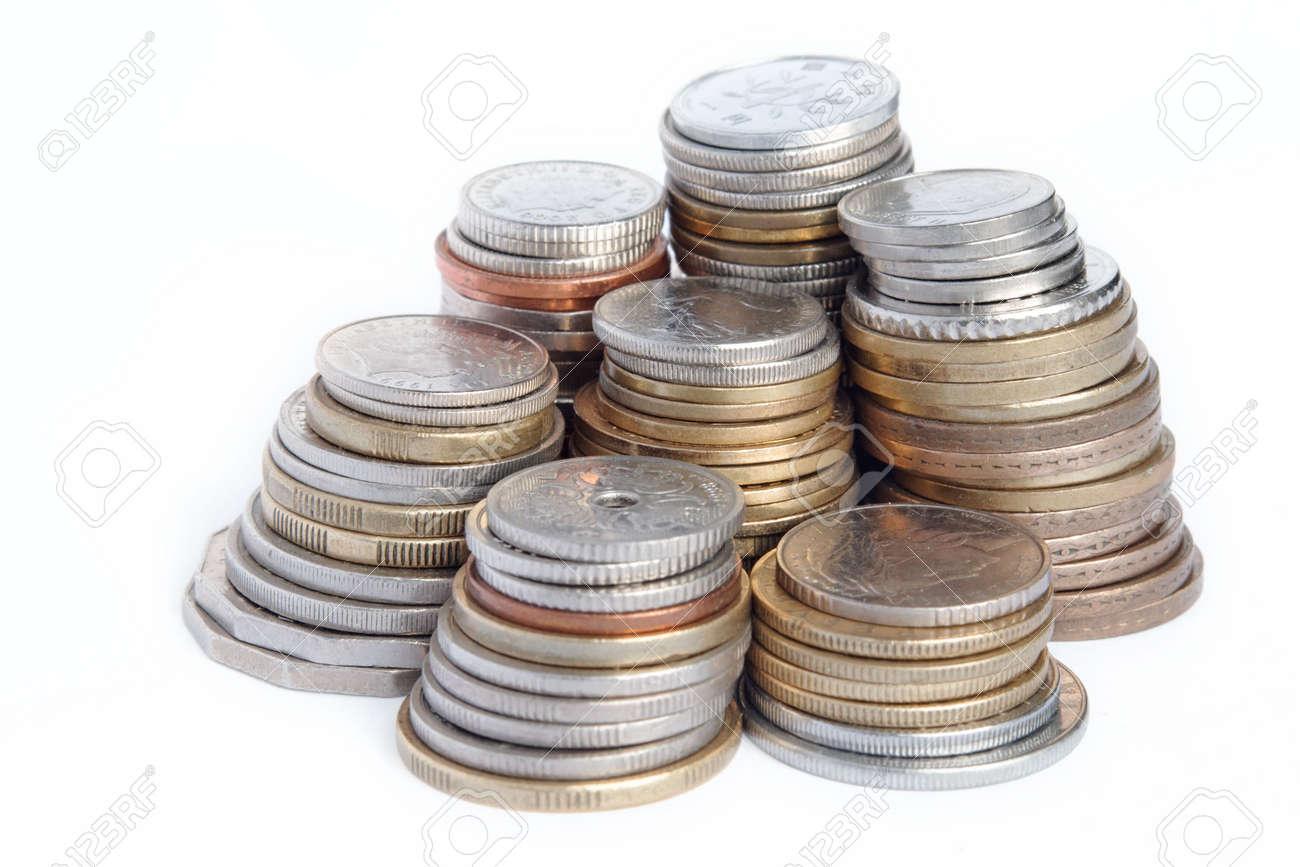 7 Spalten Verwendeten Münzen Einschließlich Australische Dollar Und